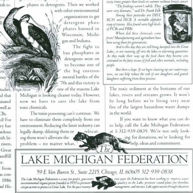 The Lake Michigan Federation