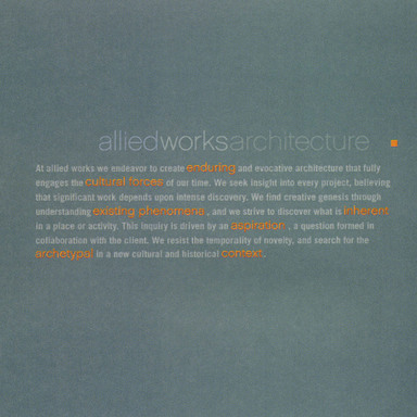 Allied Works Architecture website