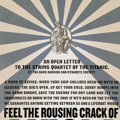 An open letter to the string quartet of the Titanic.
