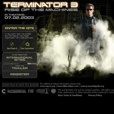 Terminator 3: Rise of the Machines Web Site