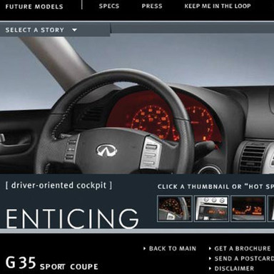 Infiniti G35 Coupe Launch Campaign
