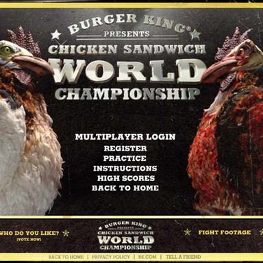 Chicken Fight Website