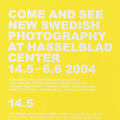 Come and see new Swedish photography