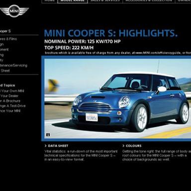 MINI Relaunch Brand Website / New Showroom