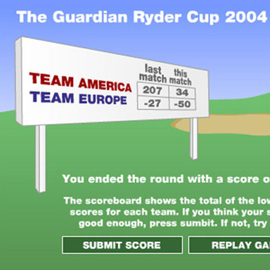 Ryder Cup Game