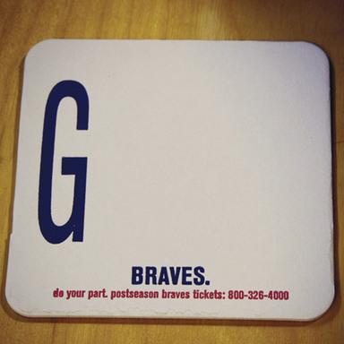 Braves Coaster