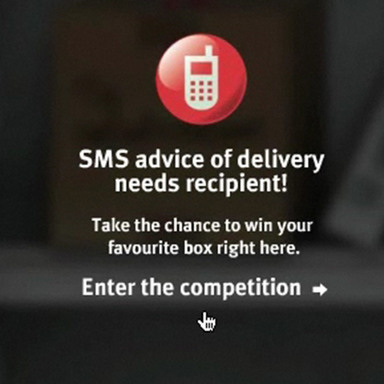 SMS advice of delivery service
