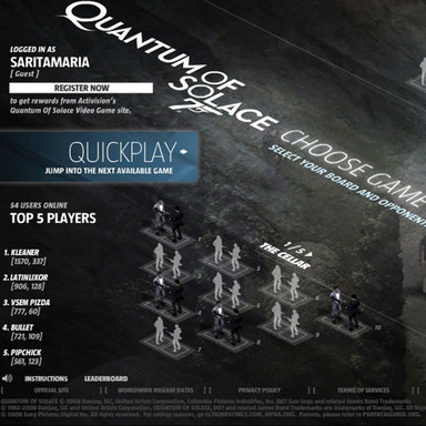 James Bond: Quantum of Solace Multiplayer Game