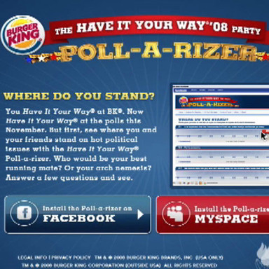 Have It Your Way '08 (Poll-a-izer)