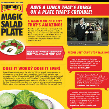 The Four'N Twenty Magic Salad Plate