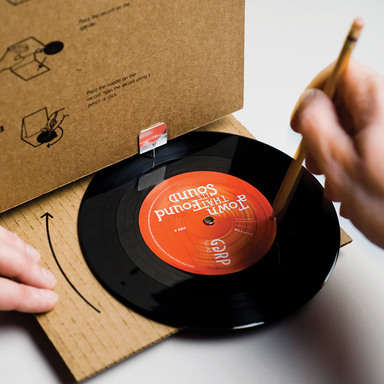 Cardboard Record Player