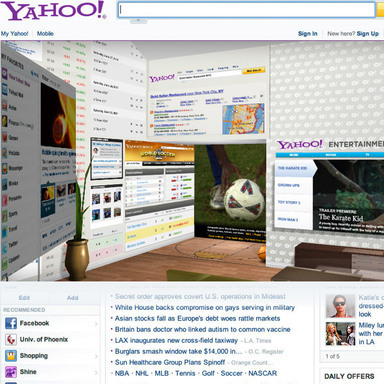 Yahoo! Page Takeover