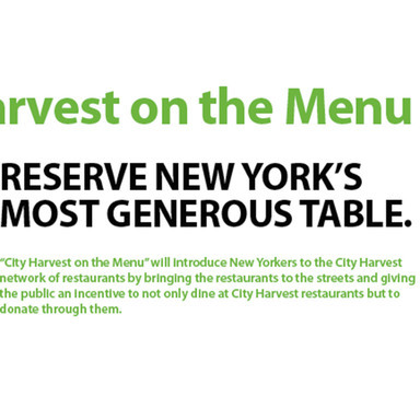 City Harvest On The Menu