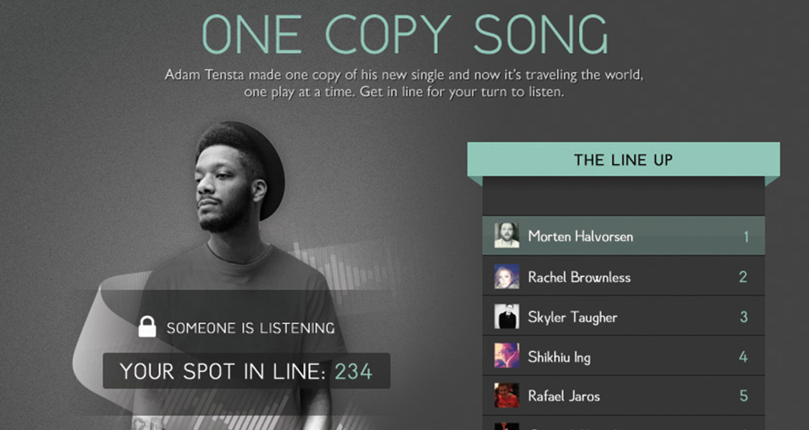 One Copy Song