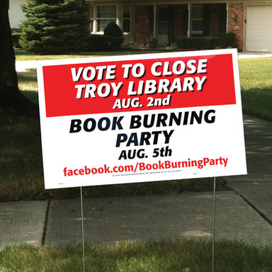 Book Burning Party