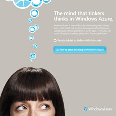 Windows Azure iPad Ad