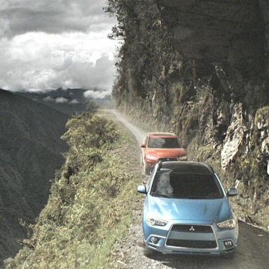 Mitsubishi tackles the World's Most Dangerous Road
