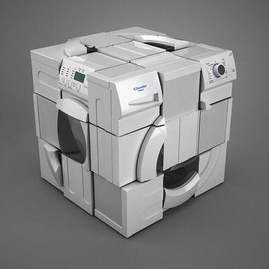 RUBIK'S WASHING MACHINE