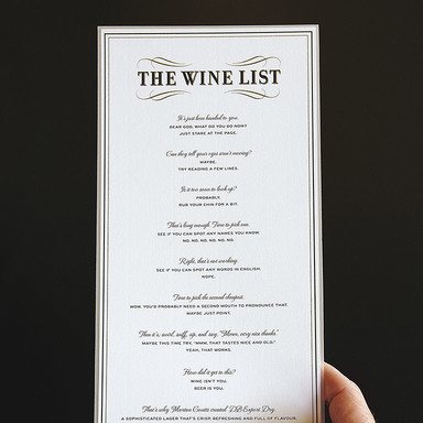 The Wine List