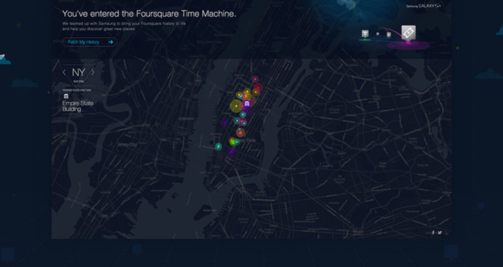 Foursquare Time Machine