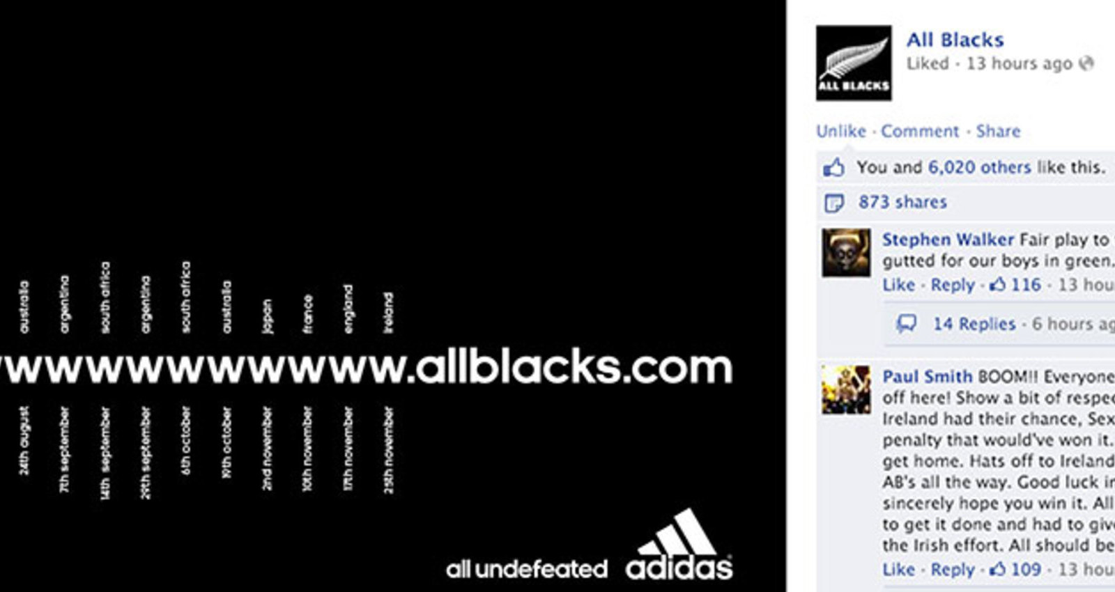 adidas All Blacks all undefeated in 2013