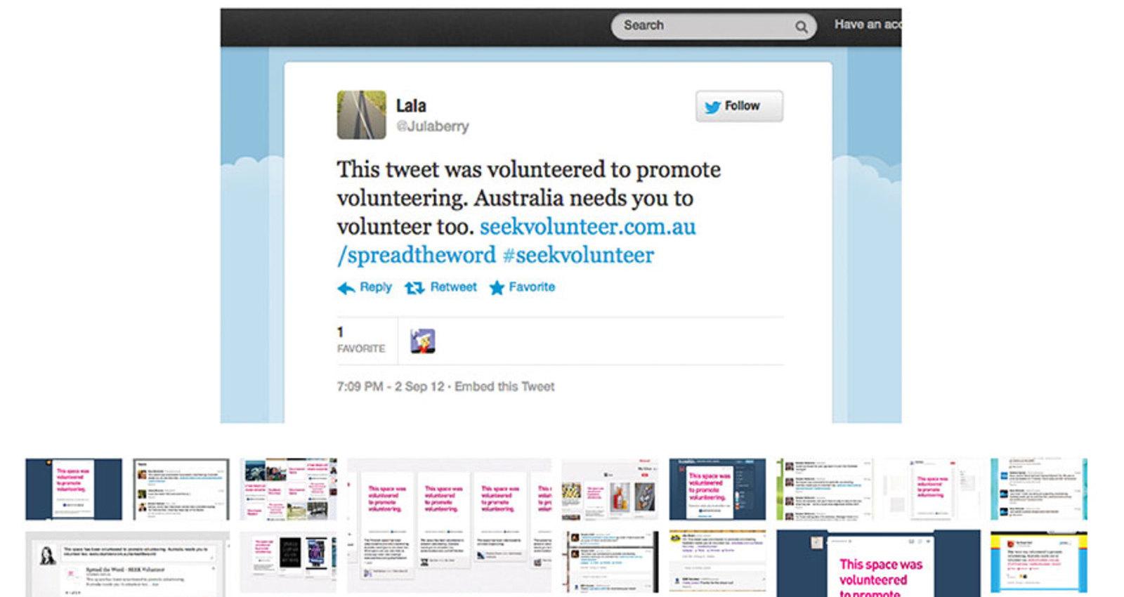 Volunteer to promote volunteering