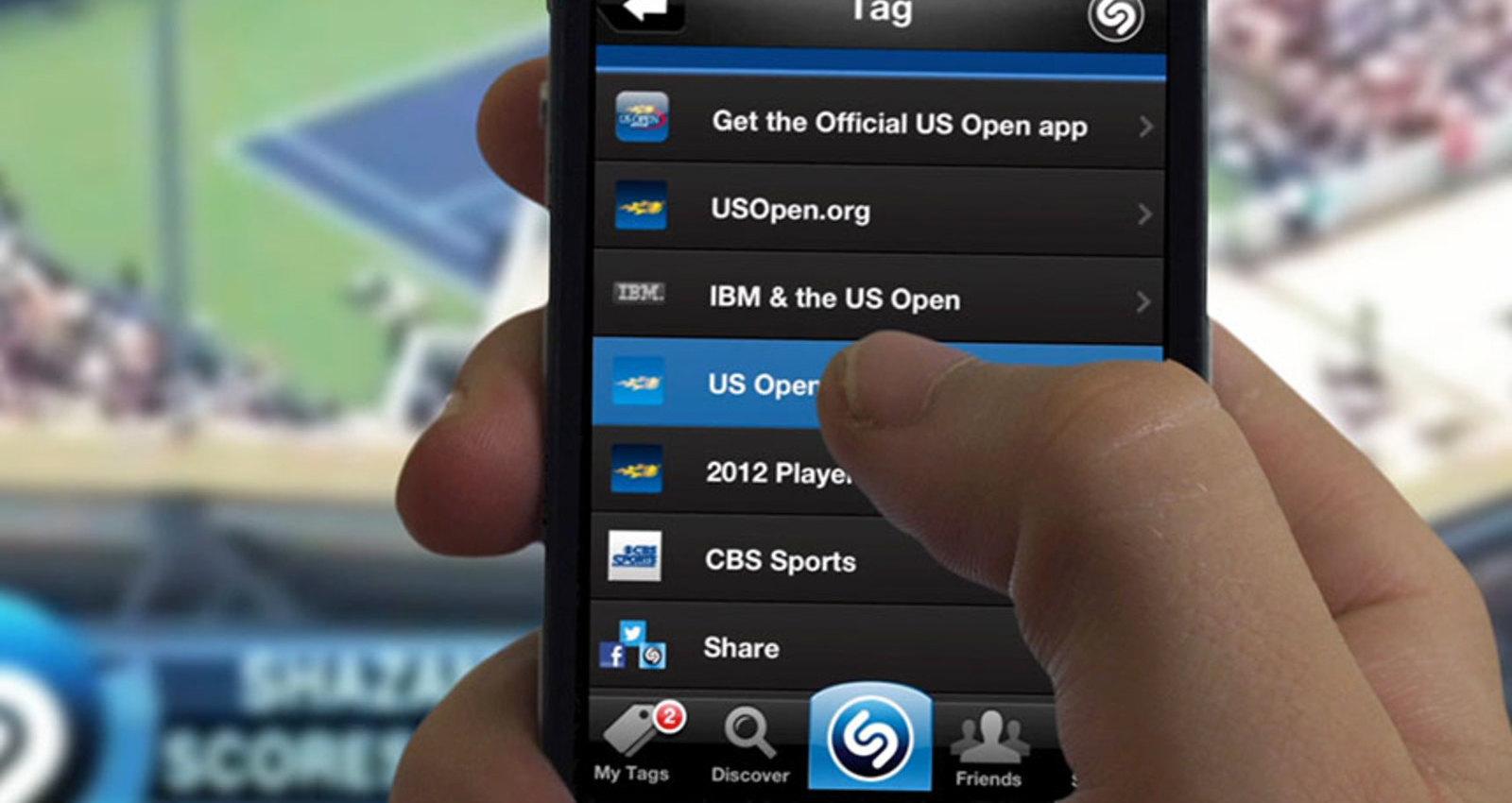 US Open Live Shazam Experience