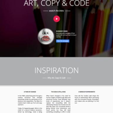 Art, Copy & Code Website (Phase 2)