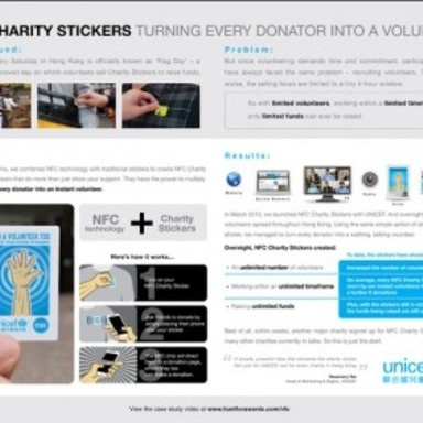 NFC Charity Stickers