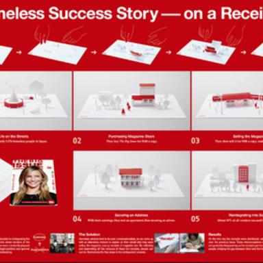 A Homeless Success Story - on a Receipt