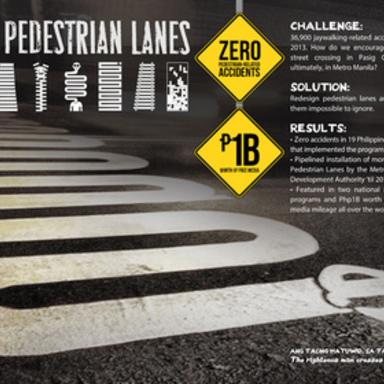 Not So Pedestrian Lanes