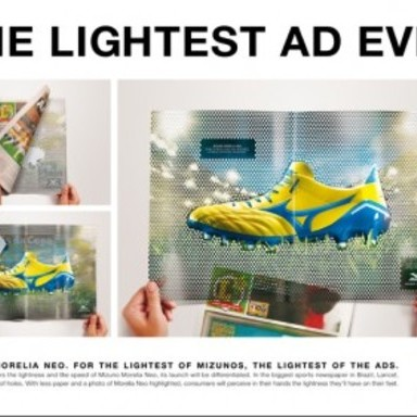 THE LIGHTEST AD EVER