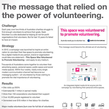 Volunteer to promote volunteering
