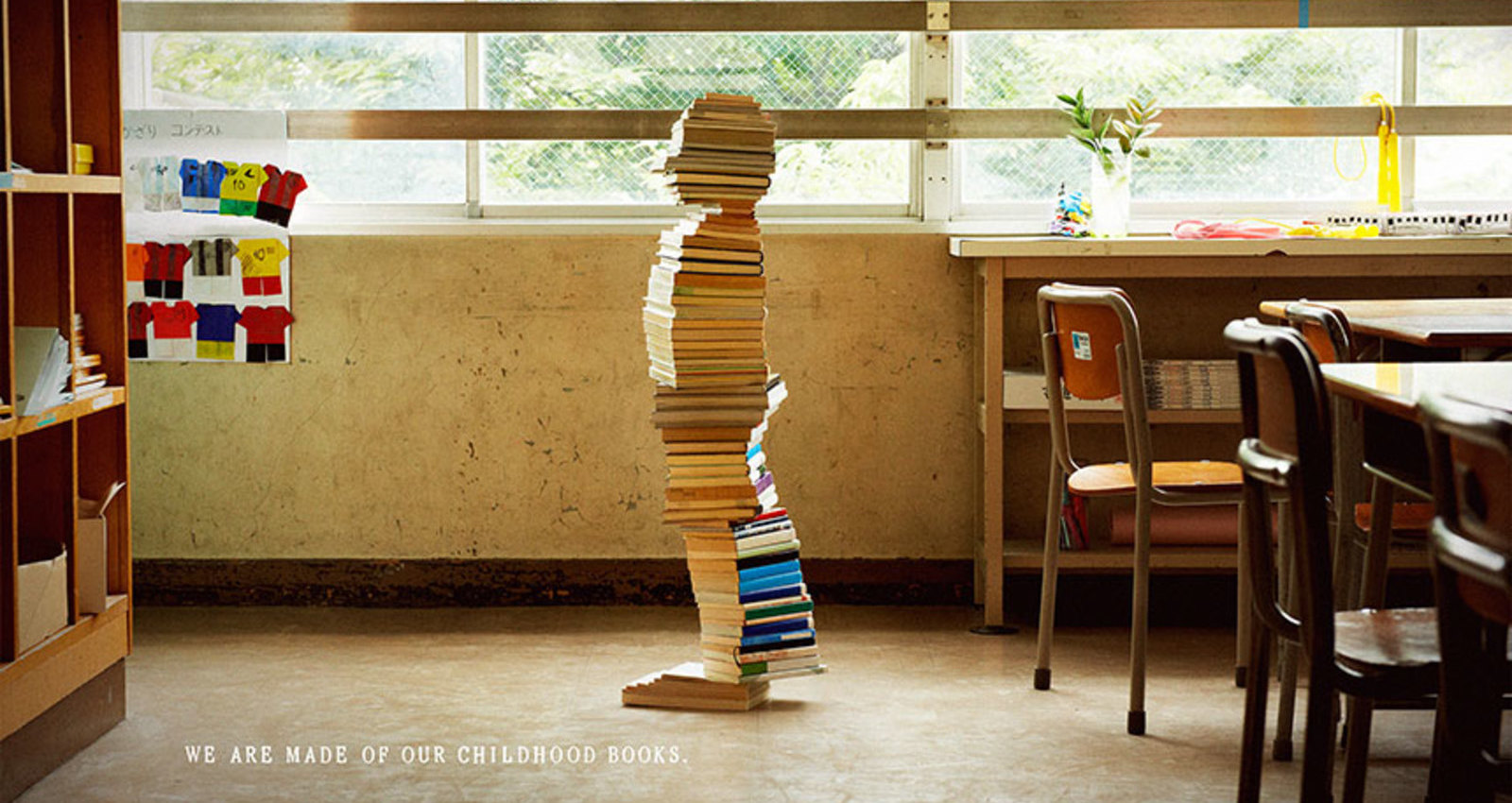 Books build children.