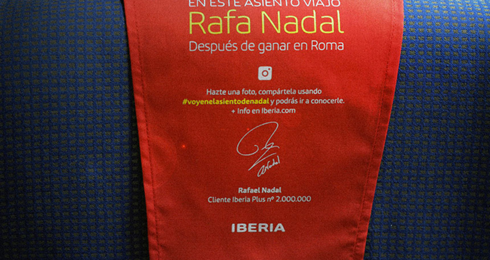 RAFA NADAL'S SEAT