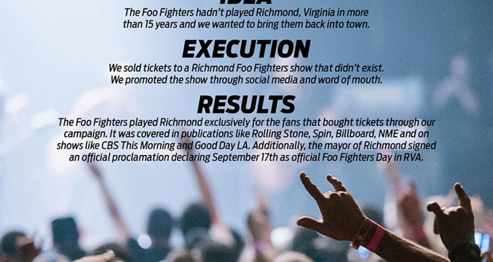 Foo Fighters RVA