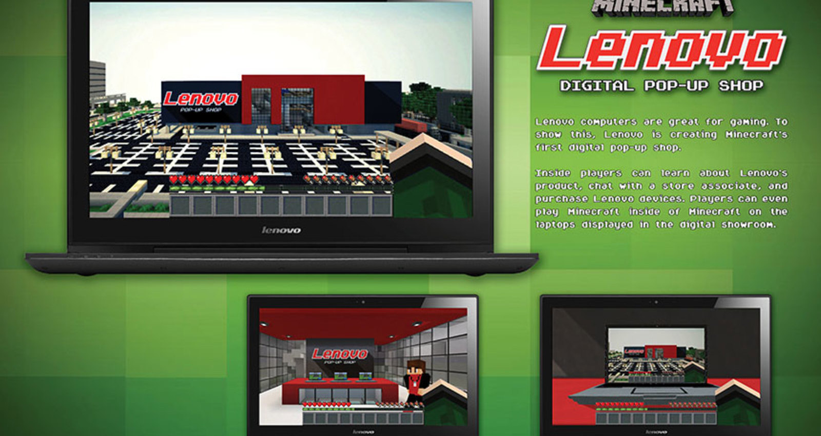 Minecraft Lenovo Digital Pop-Up Shop