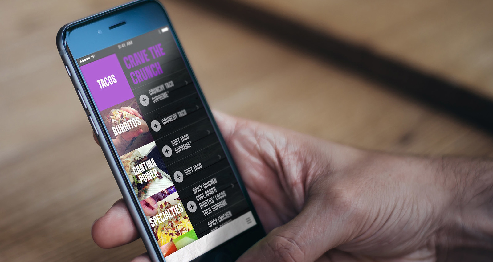 Taco Bell Mobile Ordering Application