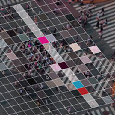 MASS RHYTHM- Transforming pedestrian chaos of Shibuya into graphics and rhythm.