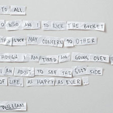 Real Suicide Notes: William
