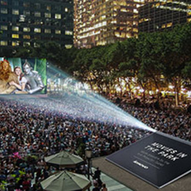 Projected Movies In The Park