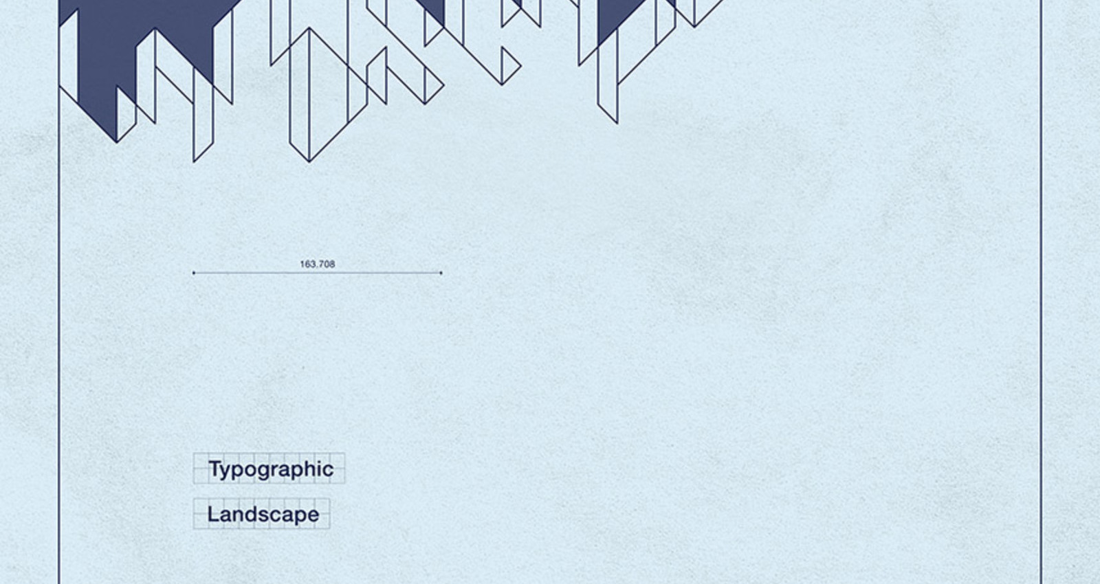 Blueprint of Typographic Landscape