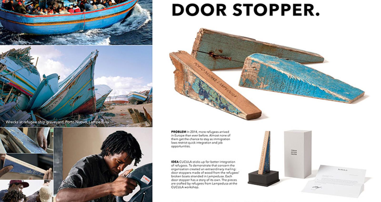 The Lampedusa door stopper. Open doors for refugees.