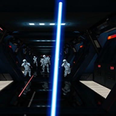 Lightsaber Escape: A Chrome Experiment