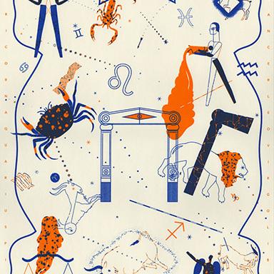 Zodiac Riso Print
