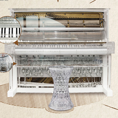 Piano Coin Donation Box
