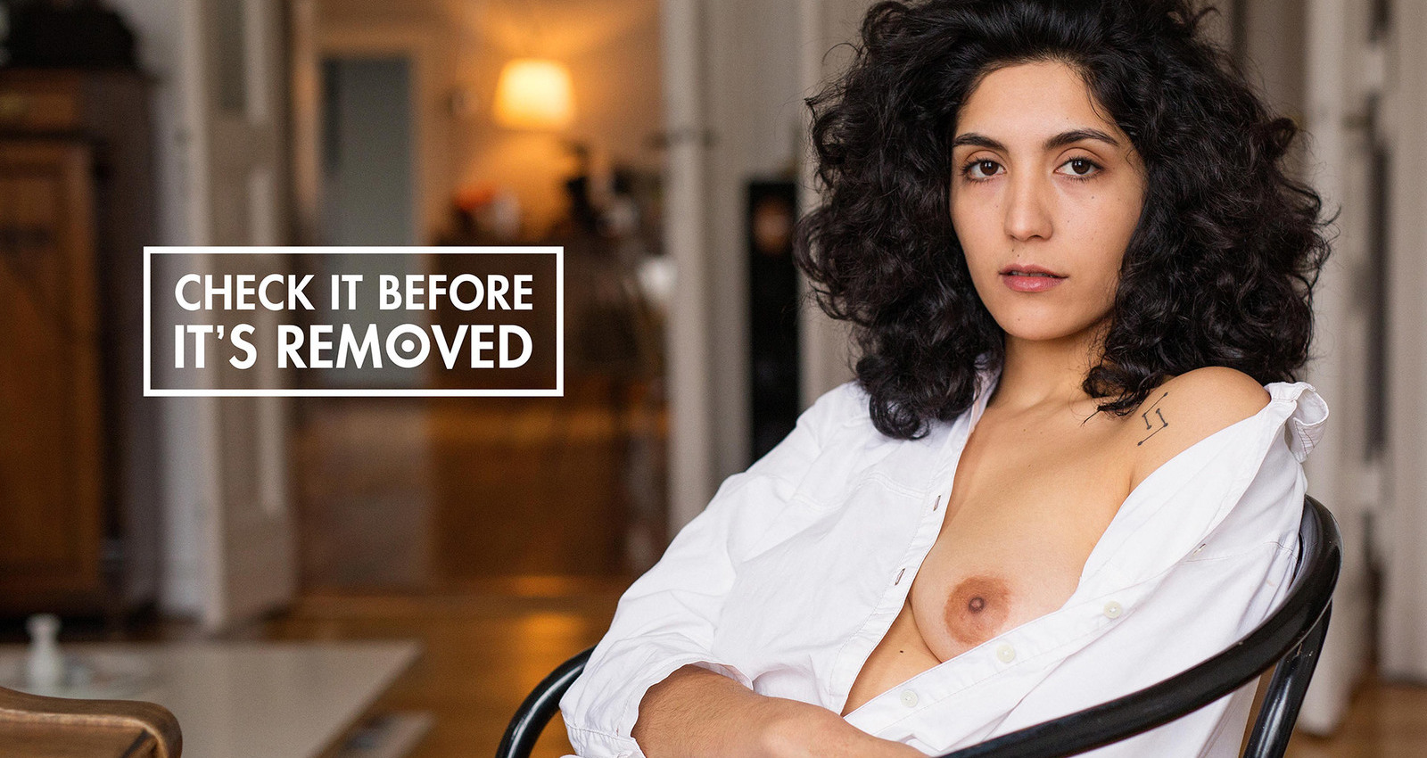 Check it before it's removed: naked breasts on Facebook against breast cancer.