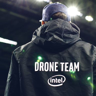 Super Bowl Halftime Show: Intel Drones + Lady Gaga