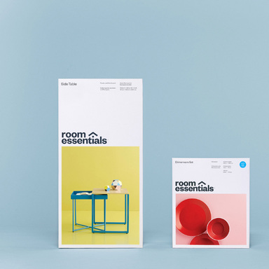 Room Essentials Visual Identity System and Packaging