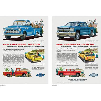 Silverado Then and Now Print Campaign